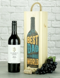 Best Dad In The World Shiraz Wine Gift
