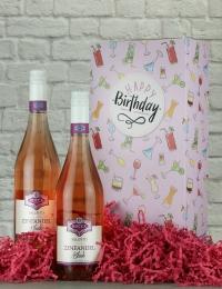 Happy Birthday Zinfandel Rose Gift