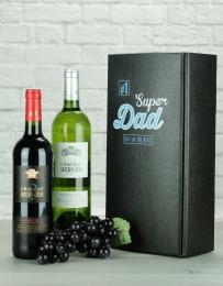 Super Dad Bordeaux Twin Wine Gift