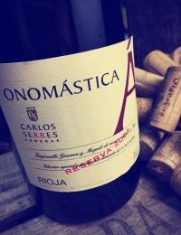 Onomastica Tinto, Rioja Reserva, Bodegas Carlos Serres
