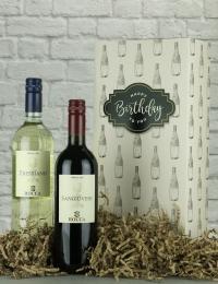Happy Birthday Italian Twin Wine Gift