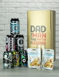 Dad the Legend Beer & Nut Gift