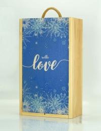 Casa Bottega Prosecco Pair - With Love Wooden Box