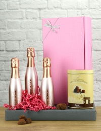 In the Pink! Bottega Rose Gold Trio & Truffles Gift