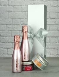 Bottega Rose Sparkling Wine & Pamper Products
