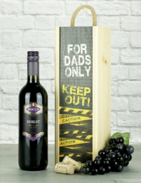 Dads Only Merlot Wine Gift