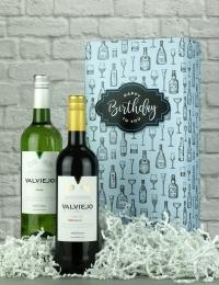 Happy Birthday Spanish Twin Wine Gift