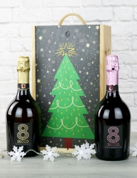 Prosecco and Sparkling Rose Festive Gift Set