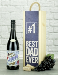 Best Dad Ever Pinotage Wine Gift