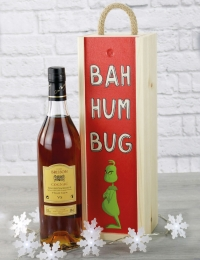 Brisson VS Cognac Bah Humbug Wooden Box Gift