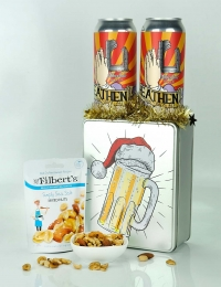 Christmas Beer & Nuts Tin Gift
