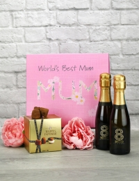 World's Best Mum Prosecco & Truffles Gift Set