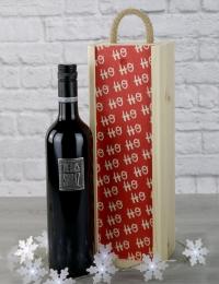 Ho Ho Ho Shiraz Wooden Gift Box