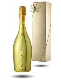 'Vino di Poeti' Bottega Gold Prosecco & Gold Gift Box