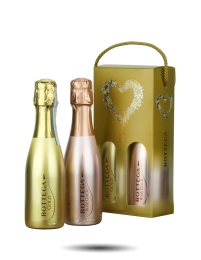 Bottega Gold Prosecco and Rose Gold Twin Gift Pack