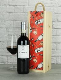 Italian Chianti Wood Box Gift