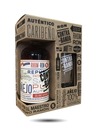 Contrabando 5 Year Old Rum, Gift set with drinking glass