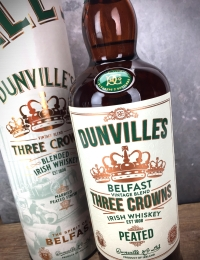 Dunvilles Peated Three Crowns Irish Whiskey