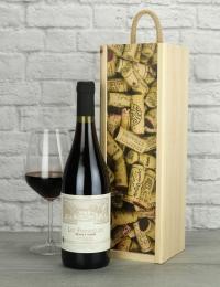 French Pinot Noir Wine Wood Box Gift