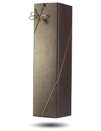 Leather Effect Cardboard Gift Box for 1 bottle