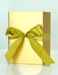 Bottega Mini Gold with Truffles in Gold Satin Bow Box