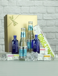 Gin Infusions with Gin and Tonics Gift Set, Presented in a Gold Box