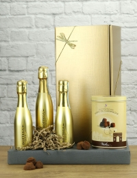 The Gold Rush, Bottega Gold Prosecco Trio & Chocolate Truffles
