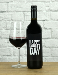 Happy Father's Day Red Wine Gift
