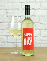 Happy Father's Day White Wine Gift