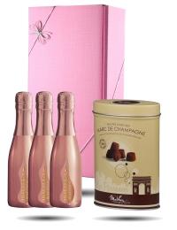 In the Pink! Bottega Rose Gold Trio & Truffles Gift