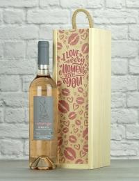 Love You Inna Rose Wood Box Gift