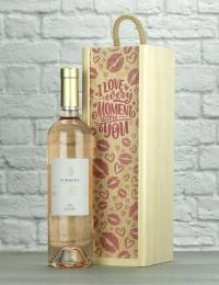 Love You La Chapelle Rose Wood Box Gift