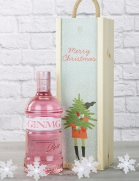 Pink Gin Festive Wooden Box Gift