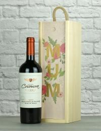Mum Reserve Merlot Wood Box Gift