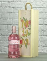 Mum Pink Gin Wood Box Gift
