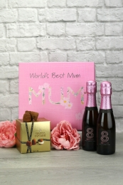 World's Best Mum Sparkling Rose & Truffles Gift Set