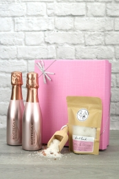 Sparkling Rose Gold Bath Night Gift Set