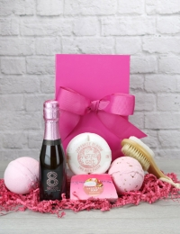 8 Secco Rose Mini Spa Pink Bow Box
