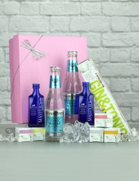 Gin Infusions with Gin and Tonics Gift Set, Presented in a Pink Box