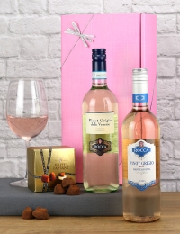 Pretty in Pink Pinot Grigio & Truffles Gift Pack