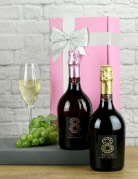 Luxury Vintage Prosecco and Sparkling Rose Gift