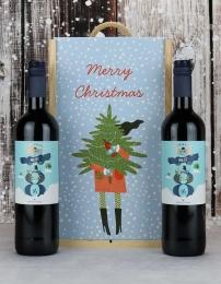 Spanish Malbec Festive Twin Gift Box