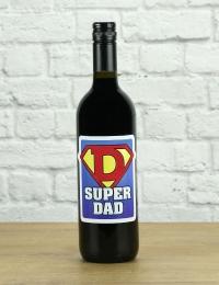 Super Dad Red Wine Gift