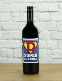 Super Grandad Red Wine Gift