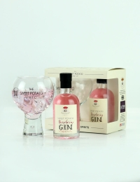 Sweet Potato Raspberry Gin Liqueur and Globe Glass Gift Set