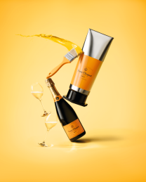 Veuve Clicquot Yellow Label Brut Champagne Gouache