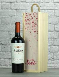 With Love Merlot Wood Box Gift