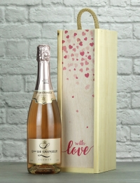With Love Grenelle Rose Wood Box Gift