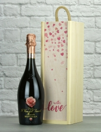 With Love Moscato Wood Box Gift