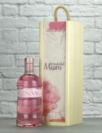 Wonderful Mum Pink Gin Wood Box Gift